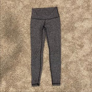 Lululemon High Waisted Gray Long Leggings 8